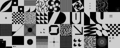 Fototapete Monochrome Abstract Vector Pattern Design