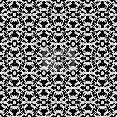 Monochrome Nahtlose Patternhand Schwarz Weiß Grau Gezeichnet