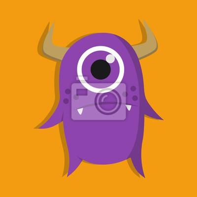 Monster charakter illustration design-vorlage fototapete ...