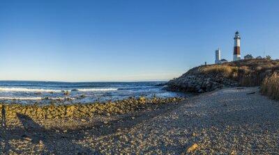 Fototapete Montauk-Punkt-Licht, Leuchtturm, Long Island, New York, Suffolk