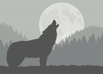 Fototapete Moon Wolf