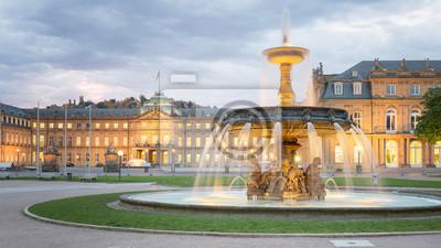 Fototapete Morning View of Stuttgart Schlossplatz