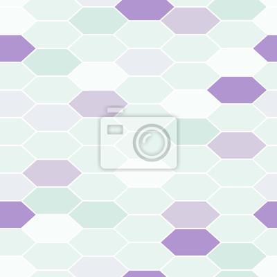 Mosaik Fliesen Ornament Nahtlose Vektor Muster Fototapete