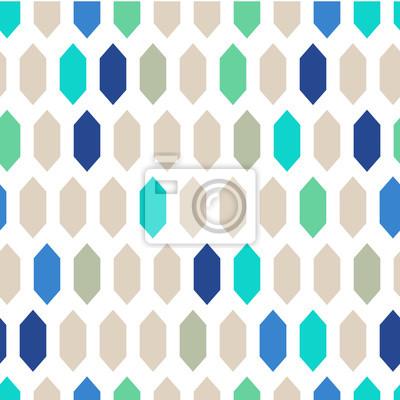 Mosaik Fliesen Ornament Nahtlose Vektor Muster Grau Und Blau