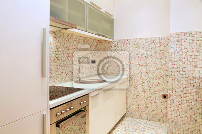 Mosaikfliesen küche fototapete • fototapeten Wasserhahn, Befestigung ...