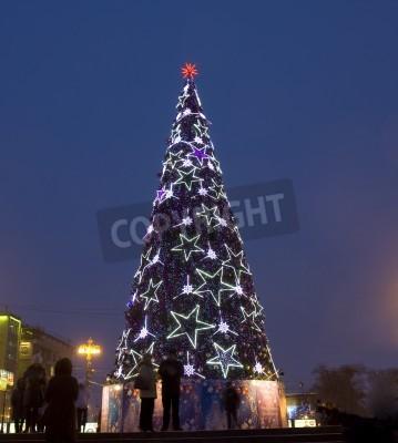 Weihnachten Am 6 Januar.Fototapete Moskau 6 Januar Weihnachten Neujahr Baum Auf Puschkinskaja
