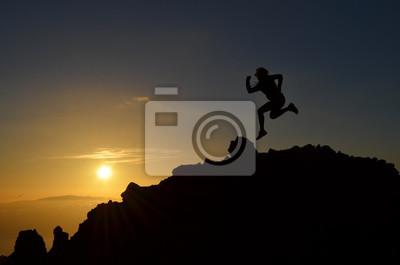 Motivation bei Sonnenuntergang