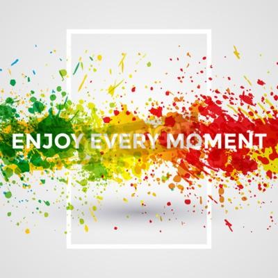 Fototapete Motivation helle Farbe spritzt Vektor Aquarell-Plakat