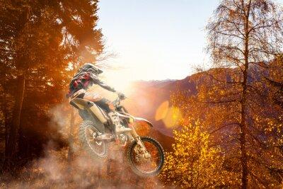 Fototapete Motocross bei Sonnenuntergang