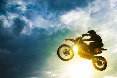 Fototapete Motocross Bike Jump