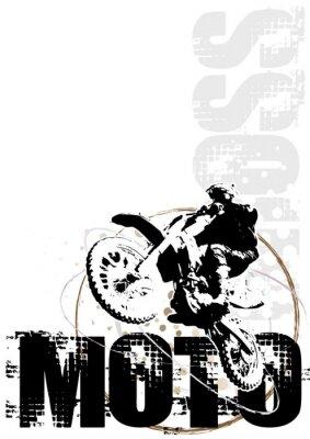 Motocross-Kreis Plakathintergrund