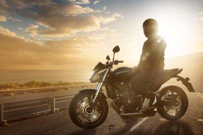 Fototapete Motorbike on an Ocean Road
