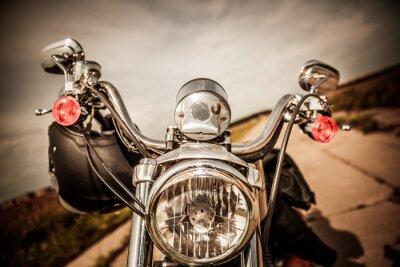 Fototapete Motorrad auf der Straße