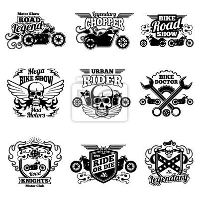 Motorrad club vintage vektor patches. motorrad-rennetiketten ...