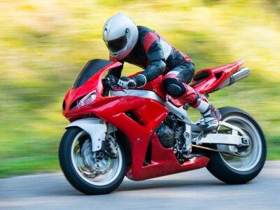 Fototapete Motorrad-Rennsport