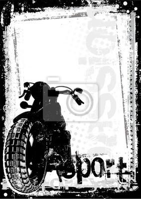Motorrad schmutzigen Hintergrund