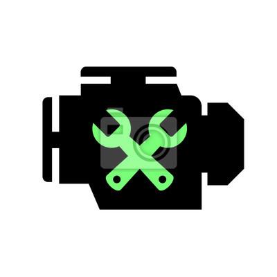 Motorsymbol fototapete • fototapeten Schraubenschlüssel, beheben ...