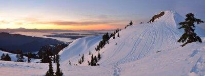 Fototapete Mt. Seymour First Pump Peak Winter Sonnenaufgang, Vancouve