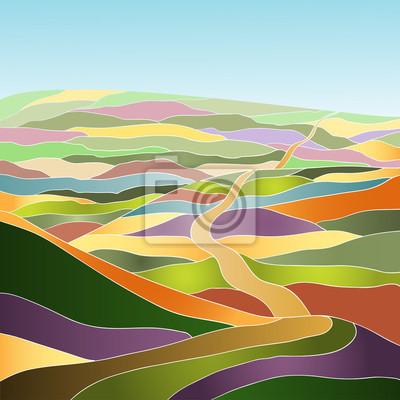 Multicolor Sommerlandschaft