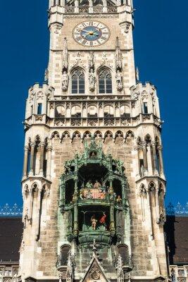 Munchen Marienplatz Rathaus Glockenspiel Fototapete Fototapeten Glockenspiel Munich Furnier Myloview De