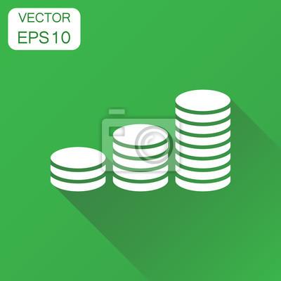 Münzen Geld Stack Symbol Business Konzept Münze Piktogramm