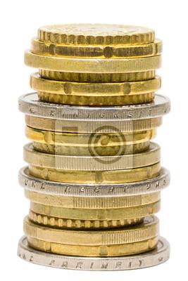 Münzenstapel Einigkeit Recht Freiheit Fototapete Fototapeten