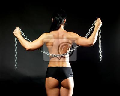 Frau bodybuilder Bodybuilding Santa