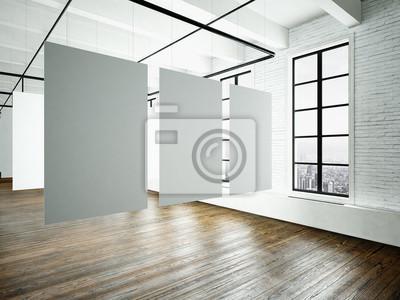 Museum expo interieur in modernen building.open space studio.empty ...