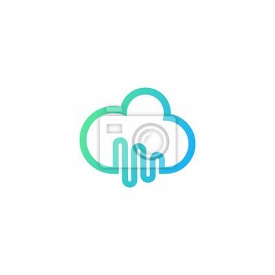 Musik cloud logo vorlage fototapete • fototapeten indie, Streaming ...