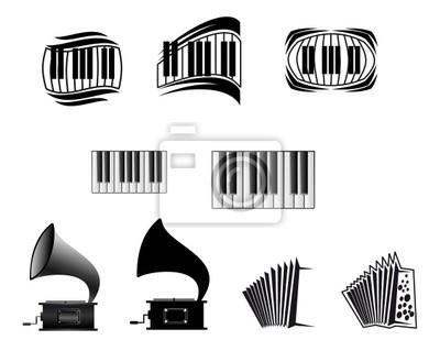 Musik-Ikonen und Symbole