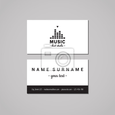 Musik Studio Visitenkarte Design Konzept Musik Studio Logo