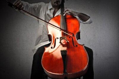 Fototapete Musiker spielt ein Violoncello