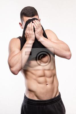 Muskuläre Fitness Mann Torso mit Sixpack