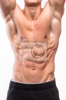 Muskulöser Mann Körper mit Sixpack