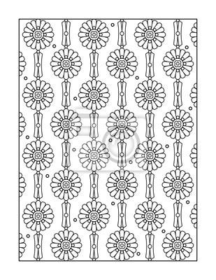Fototapete Muster Ausmalbilder Für Erwachsene Kinder Ok Auch Oder Monochrom