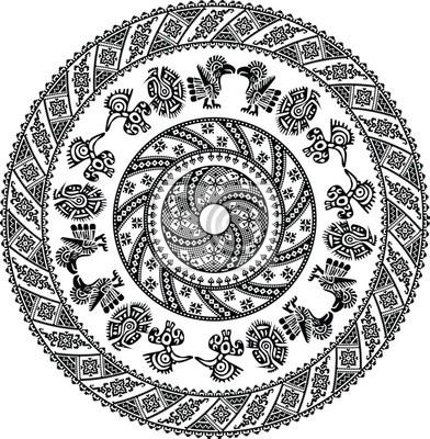 Muster der amerikanischen Kultur . Editable Vektor-Illustration