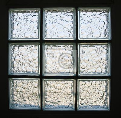 Muster der wand aus glasbausteinen fototapete • fototapeten ...