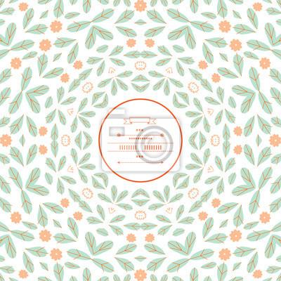Muster mit floralen Elementen im Vektor