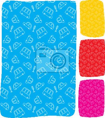 Muster mit linien-zeichnungen von autos fototapete • fototapeten ...
