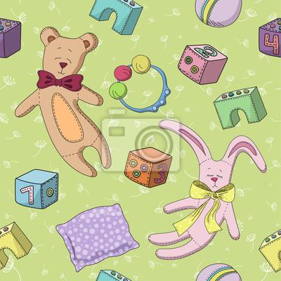 Muster von Kinderspielzeug