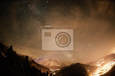 Fototapete Nachthimmel - Chamonix Mont Blanc
