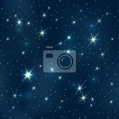 Nachthimmel mit Sternen, nahtlose Muster, EPS10