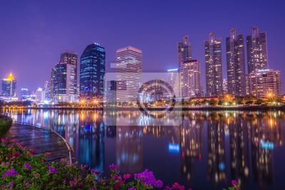 Fototapete Nachtlicht Stadt