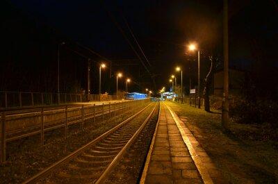 Fototapete Nachtstation