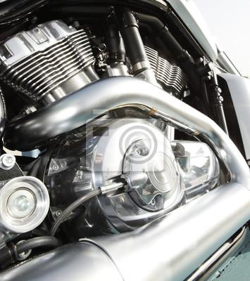 Nahaufnahme eines Hochleistungsmotorrad
