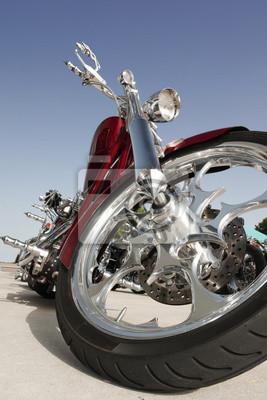 Nahaufnahme von einem High-Power Motorrad