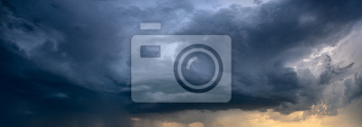Fototapete nähert sich Sturmwolke
