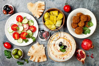 Arabische Küche | Nahostliches Traditionelles Abendessen Authentische Arabische