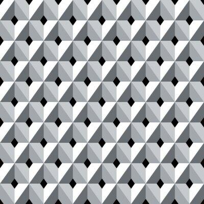 Fototapete Nahtlose 3D geometrischen Diamanten Muster.