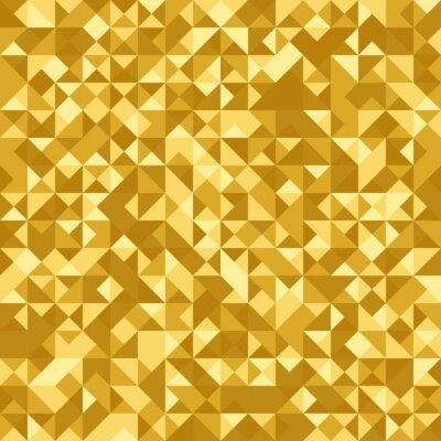 Fototapete Nahtlose abstrakte Muster: Gold heraldischen Hintergrund mit holographischen Effekt. Dreieckfolie